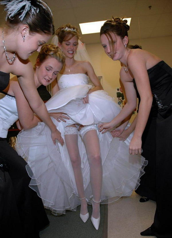 wedding dress upskirt