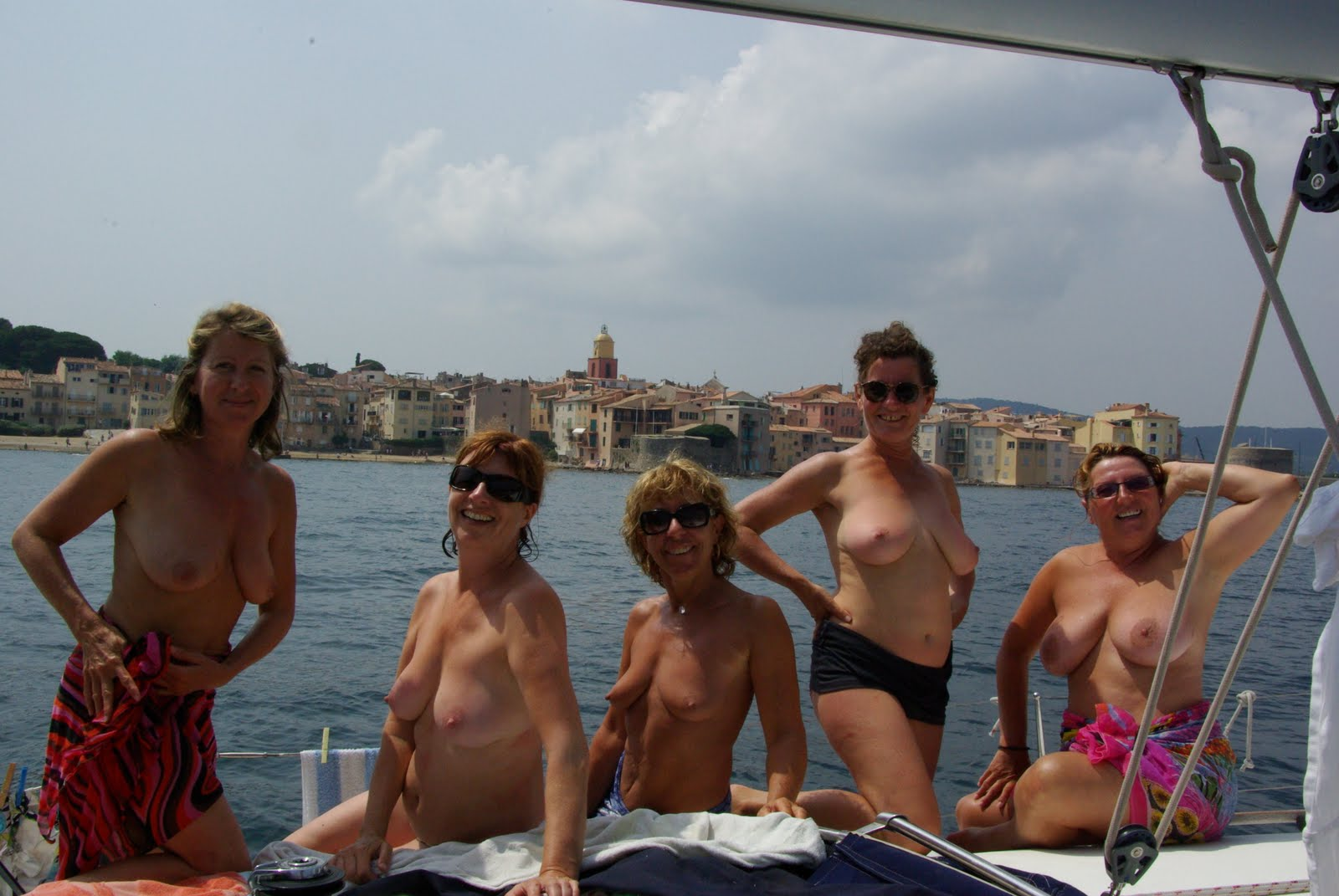 Younger chick Naked on a boat hot