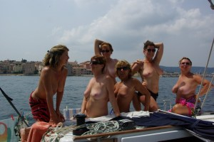 Housewifes On a boat